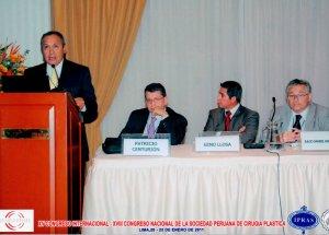 Dr. Gino Llosa - XV Congreso Internacional - XVIII Congreso Nacional de la Sociedad Peruana de Cirugía Plástica