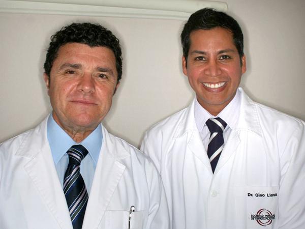Dr. Gino Llosa con el Dr. Ramón Vila-Rovira - Instituto Teknon - Barcelona, España 2010