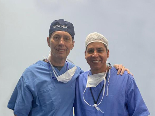 Dr. Gino Llosa con el Dr. André Auersvald - Clínica Lipoplastic, Curitiba – Brasil 2019
