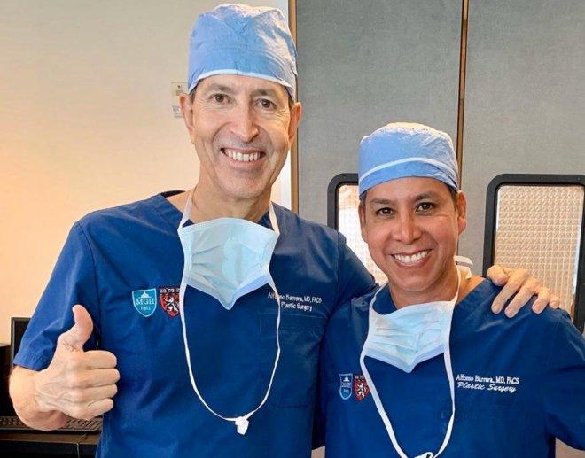 Dr. Gino Llosa con el Dr. Alfonso Barreda - Memorial Hermann Hospital, Houston - EEUU 2020